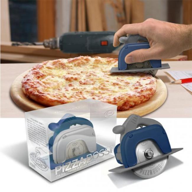 rallador de pizza en forma de sierra electrica
