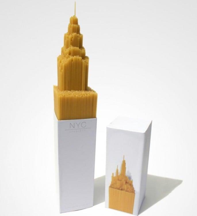 Rascacielos de pasta