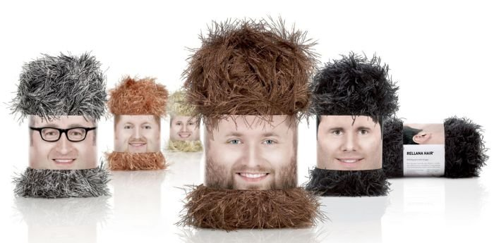 cobijas peludas con empaque de caras de hombres