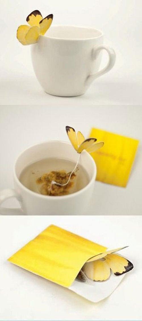 Bolsitas de té con mariposa