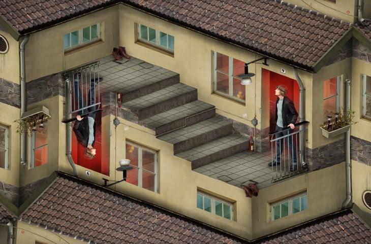 Erik Johansson ilusion optica