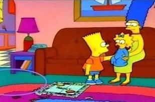 Errores en los simpson La caja detrás de Bart, desaparece
