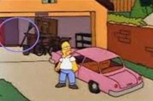 Errores en los simpsons Aparecen cajas en el garaje