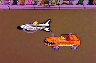 Errores en los simpson El auto de Bart se repara solo