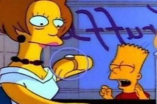 Errores en los simpson El reloj de Edna desaparece