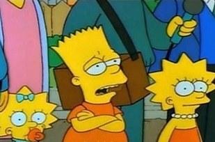Errores en los simpson El cambio de lugar de Lisa y Bart