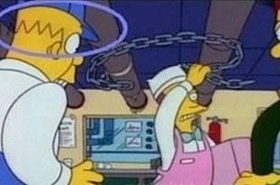 Cambio de color en la gorra de Homero