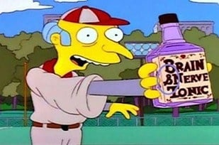 Errores en los simpson Burns con frasco