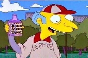 Errores en los simpson Burns con frasco