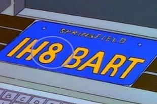 Errores en los simpson La placa del auto de Bob Patiño cambia de nombre