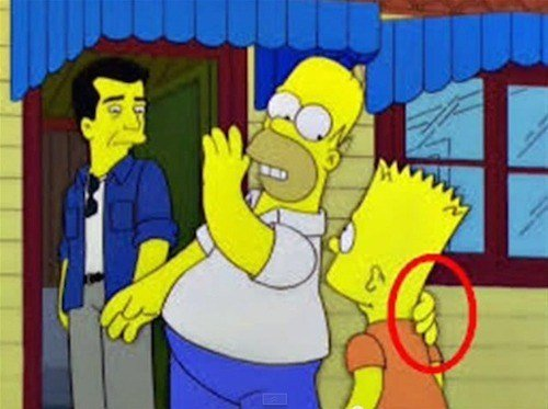 Errores en los simpson La mano fantasma de Homero