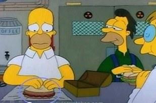 Errores en los simpson Cambia el relleno del sandwich