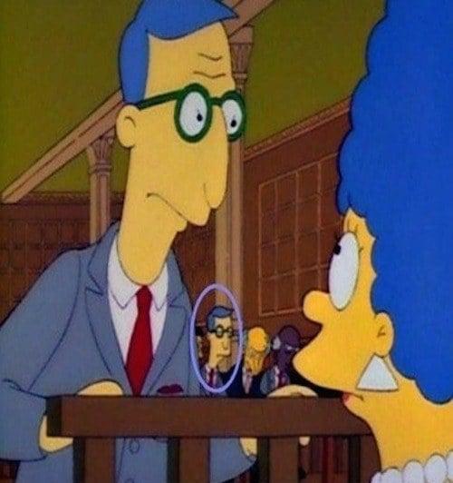 Errores en los simpsons El abogado aparece dos veces