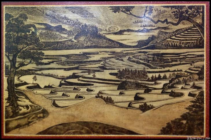 cuadro de un paisaje de campo