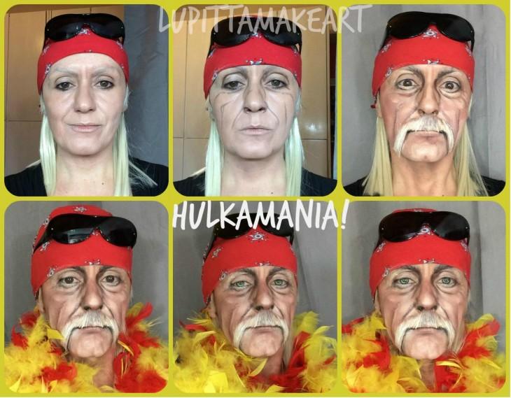 Transformación de Lucía Pitallis en Hulk Hogan