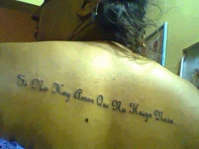 tatuaje de si no hay amor que no haiga nada