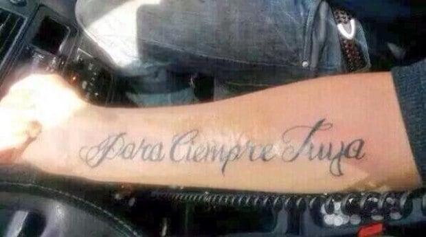 tatuaje de para ciempre tuya