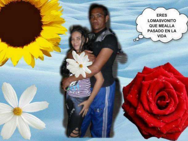 """Foto editada de una pareja con texto de eres lo más """"vonito"""""""