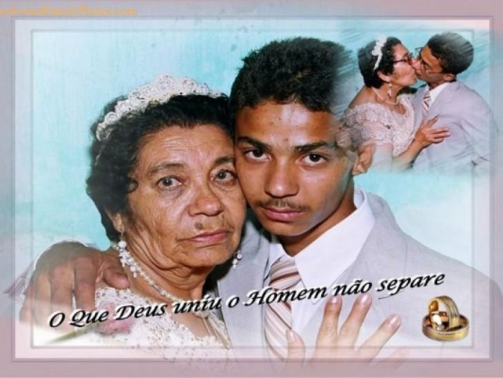 Hombre joven casado con una anciana