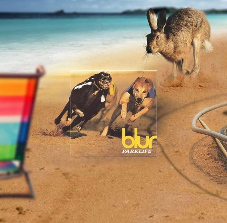 """Portada extendida del disco de Blur """"Parklife"""""""