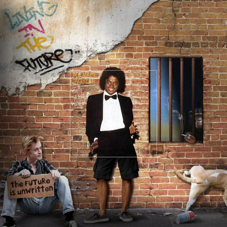 "Portada extendida del disco de Michael Jackson ""Off the wall"""