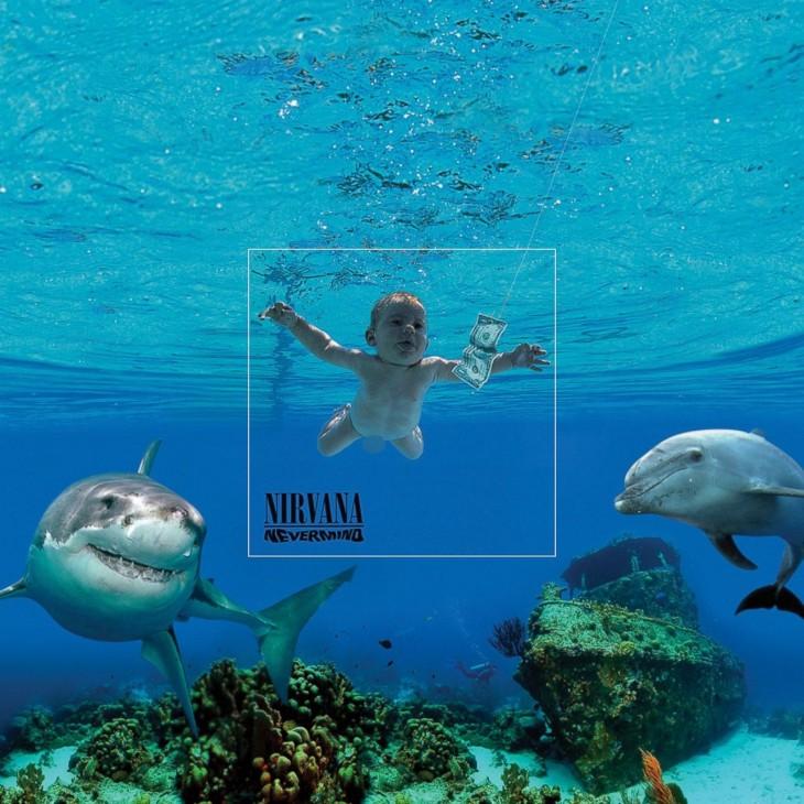 """Portada extendida del disco de Nirvana """"Nevermind"""""""