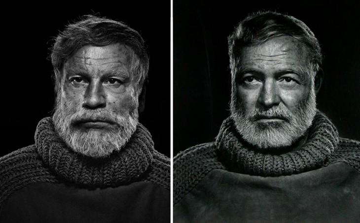 John Malkovich y Ernest Hemingway