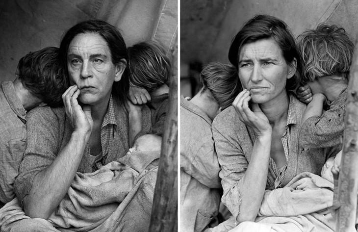 Dorothea Lange y John Malkovich