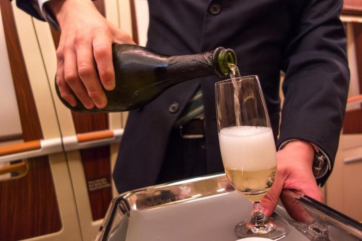 champagne en 1 clase de singapour
