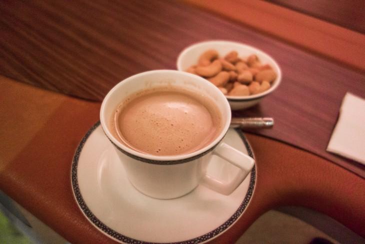 cafe de 1 clase de aerolinea singapour
