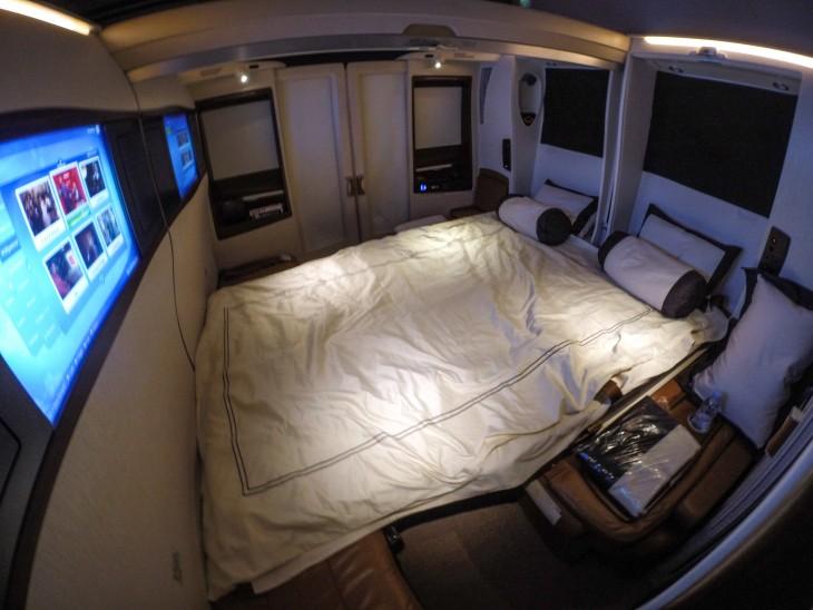 cama en primera clase aerolinea