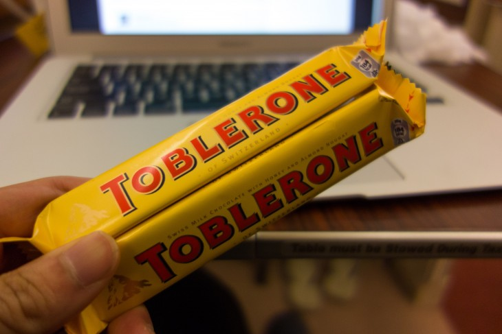 chocolates toblerones