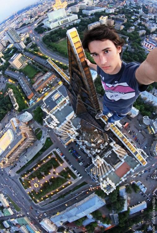 una selfies en la altura