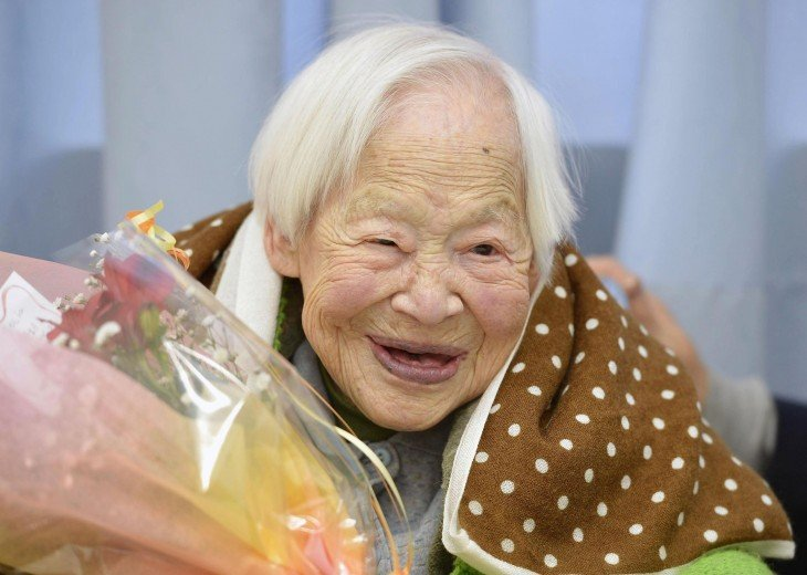 Misao Okawa la persona mas vieja del mundo
