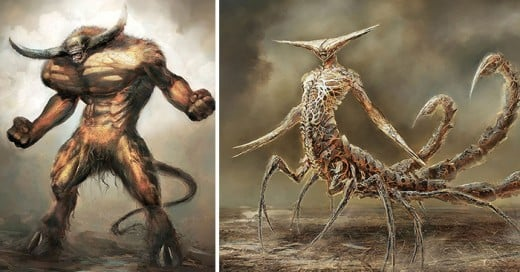 artista redise►a los signos del zodiaco en estos terrorificos monstruos