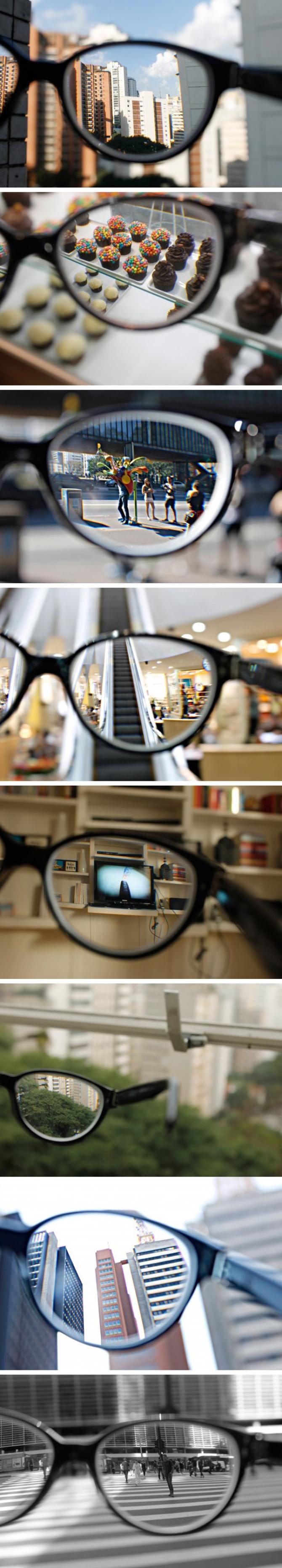 8 imagenes tomadas por Layana Leandro que muestran como se ve el mundo con y sin gafas teniendo miopía