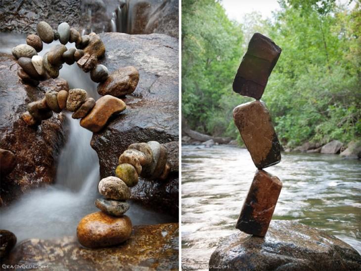 varios monumentos de michael grab hehcos en piedras