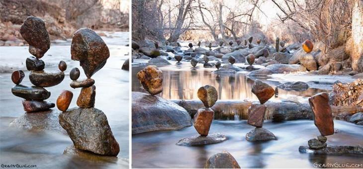 en el rio monumento hechos en piedras