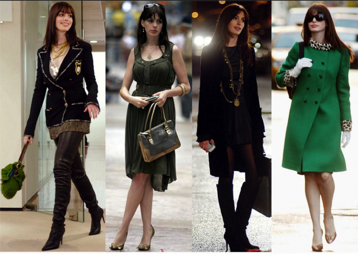 Anne Hathaway en el diablo viste a la moda