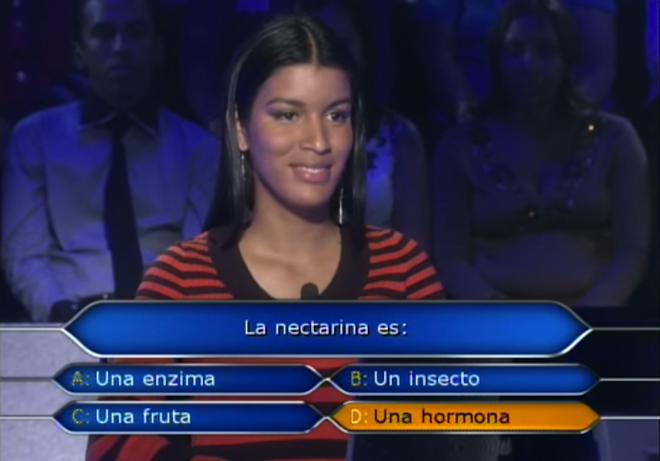 Fails en concursos de TV, confunde fruta con hormona
