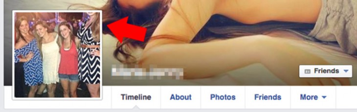 foto perfil facebbok, recortan a una chica alta