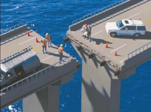 puente que no conecta con el otro extremo