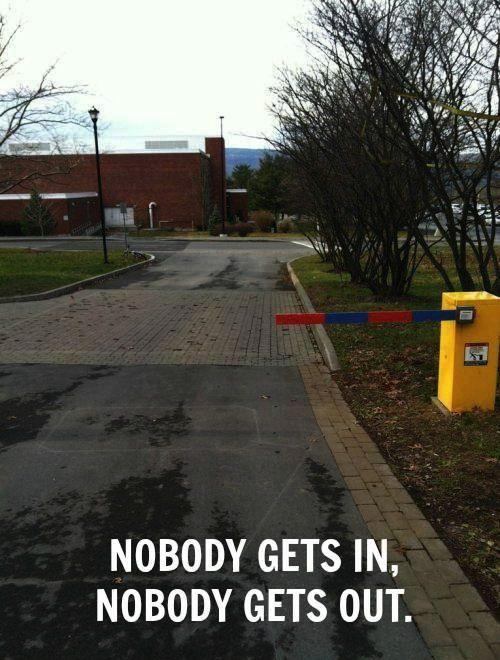 barandilla de estacionamiento corta colocada en un parque