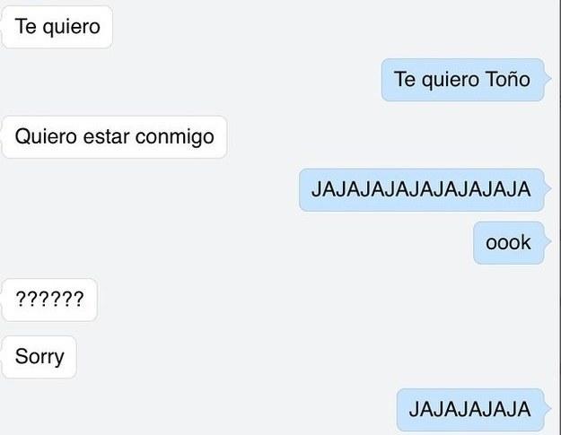 Screenshot de una conversación entre dos personas