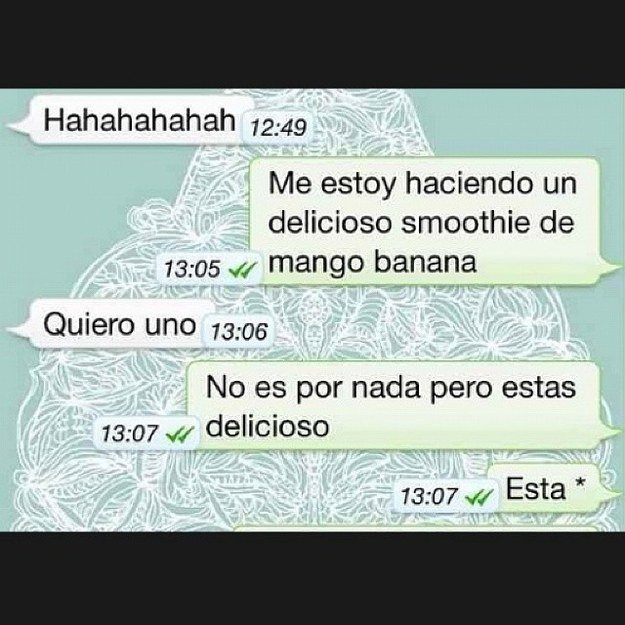Screenshot de una conversación de whatsapp entre dos personas hablando de comida