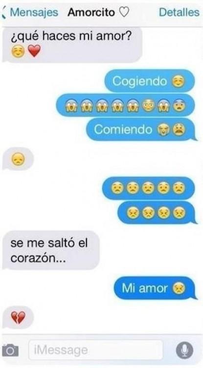 screenshot de una conversación de whatsapp de una pareja de novios