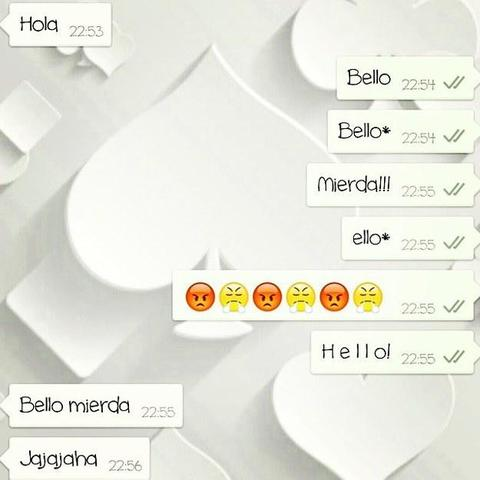 Screenshot de una conversación por whatsapp