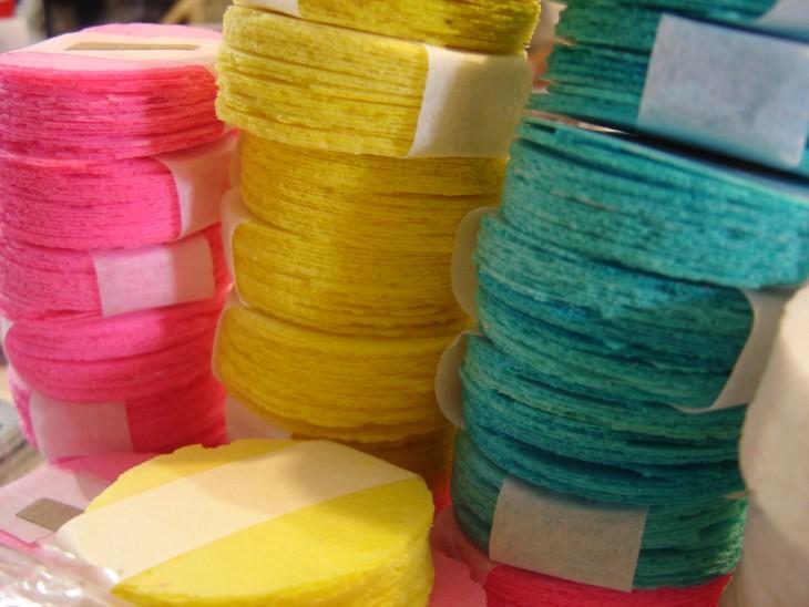 Obleas de colores