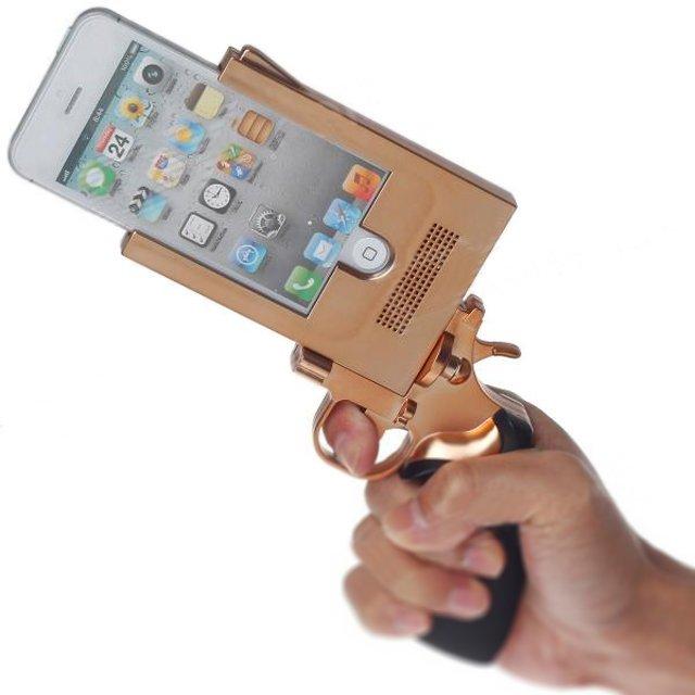 funda para iphone en forma de pistola