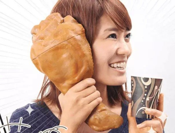 Funda para celular con forma de pierna de pavo gigante